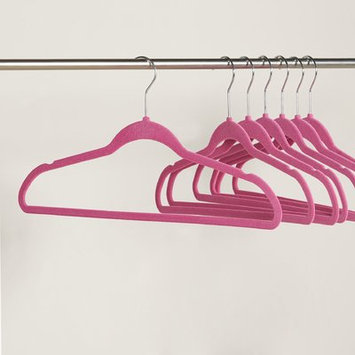 Wayfair Basics Velvet Non-Slip Hanger Color: Fuchsia