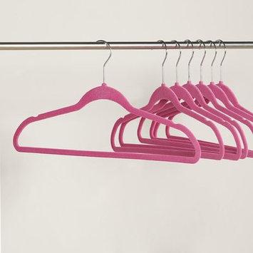 Wayfair Basics Velvet Non-Slip Hanger Color: Fuchsia