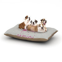 East Urban Home Belinda Gillies 'Gemini' Dog Pillow with Fleece Cozy Top Size: Large (50