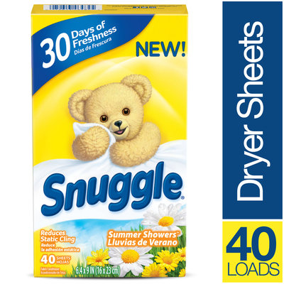 Snuggle® Summer Showers™ Fabric Conditioner Dryer Sheets 40 ct Box