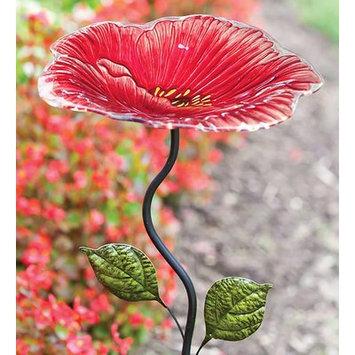 Evergreen Choice of Hummingbird or Flower Design Birdfeeder on Garden Stake