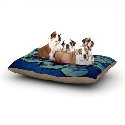 East Urban Home Ann Barnes 'Twilight' Water Lily Dog Pillow with Fleece Cozy Top Size: Large (50