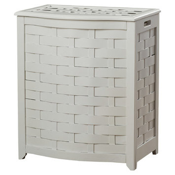 Darby Home Co Bowed Front Laundry Hamper Finish: White