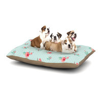 East Urban Home KESS Original 'Happy Easter II' Springtime Dog Pillow with Fleece Cozy Top Size: Large (50