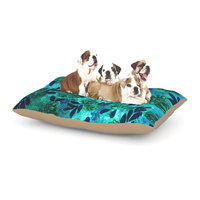 East Urban Home Ebi Emporium 'Grunge Flowers III' Floral Dog Pillow with Fleece Cozy Top Size: Small (40