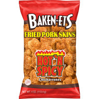 Baken-Ets® Chicharrones Hot 'N Spicy Fried Pork Skins 4 oz. Bag