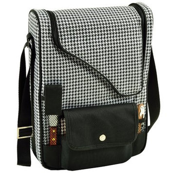 Picnic At Ascot 2 Bottle Houndstooth Bordeaux Wine and Cheese Picnic Cooler