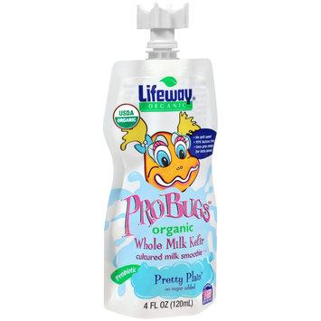 Lifeway® ProBugs™ Pretty Plain™ Organic Whole Milk Kefir Cultured Milk Smoothie 4 fl. oz. Pouch