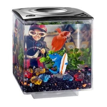 Eliv 0.75 Gallon Betta Cube Aquarium Tank Color: Black