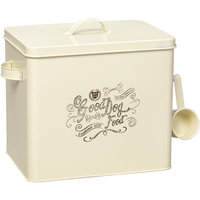 House of Paws Country Kitchen Large Cream Dog Bowl, Ivory/Black