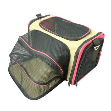 Pet Life Roomeo Collapsible Dog Carrier Khaki