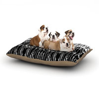 East Urban Home Nina May 'Century City Splatter' Dog Pillow with Fleece Cozy Top Size: Large (50