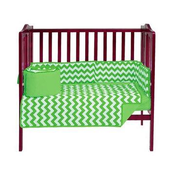 Harriet Bee Clint Portable 3 Piece Crib Bedding Set Color: Green