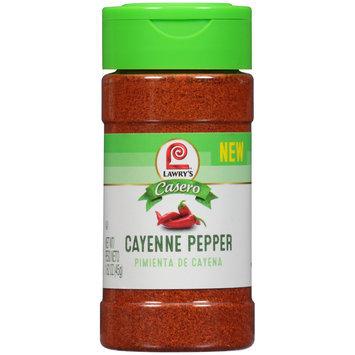 Lawry's® Casero Cayenne Pepper 1.65 oz. Shaker