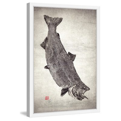 Marmont Hill Inc Marmont Hill - 'King Salmon I' by Dwight Hwang Framed Painting Print