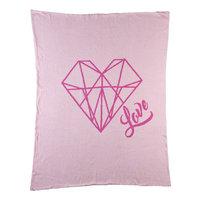 Livingtextilesbaby Paper Swans Diamond Heart Knitted Baby Blanket