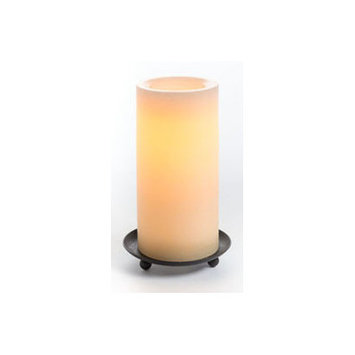 Winston Porter Real Wax Flameless Candle Color: Tan
