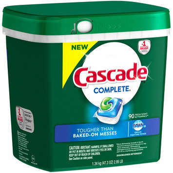 Cascade® Complete® ActionPacs™ Fresh Scent Dishwasher Detergent 47.3 oz. Tub