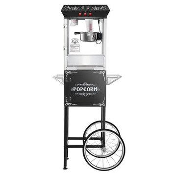 Superior Popcorn Company 0.25 Qt. Movie Night Popcorn Popper Machine with Cart Color: Black