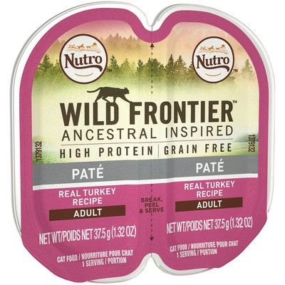 Nutro™ Wild Frontier™ Ancestral Inspired Pate Real Turkey Recipe Adult Cat Food 2-1.32 oz. Trays