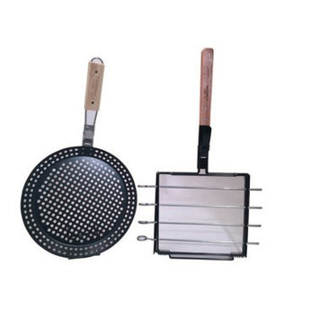 Cameron's Pizza Grilling Pan and Skewer Rack Set