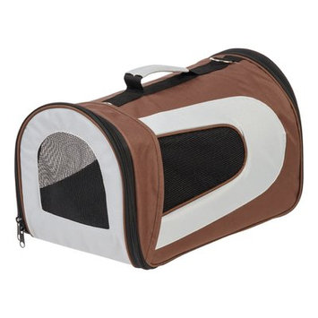 Iris Small Soft Pet Carrier Color: Brown, Size: 9.05