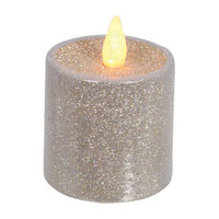 Mercer41 Glitter LED Pillar Flameless Candle Size: 3