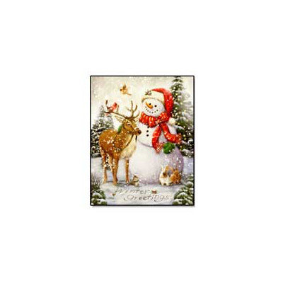 Millwork Eng Dba The Craft Room 'Top Hat Snowman' Lighted Canvas Art