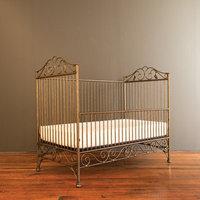 Bratt Decor Casablanca Crib with Mattress Finish: Gold