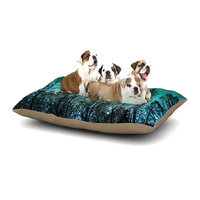 East Urban Home Sylvia Cook 'Dark Forest' Trees Dog Pillow with Fleece Cozy Top Size: Large (50