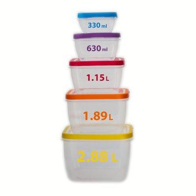 Rebrilliant Square 10 Container Food Storage Set