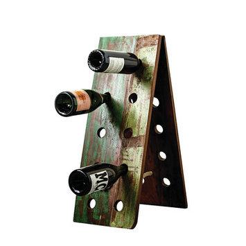 Creative Co-op Waterside 10 Bottle Wall Mounted Wine Bottle Rack