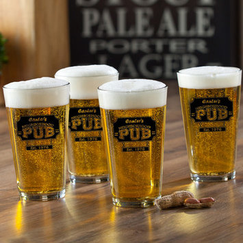 Jds Personalized Gifts Neighborhood Pub Personalized 16 oz. Pub Glass