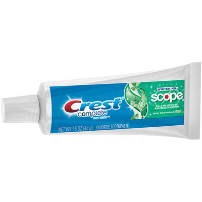 Crest® Complete Multi-Benefit™ Whitening + Scope® Minty Fresh Striped Toothpaste 1.5 oz. Box