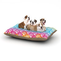East Urban Home Frederic Levy-Hadida 'Ethnic Spirals' Dog Pillow with Fleece Cozy Top Size: Large (50