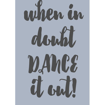 Sweetumswalldecals When in Doubt Dance It Out Wall Decal Color: Dark Gray