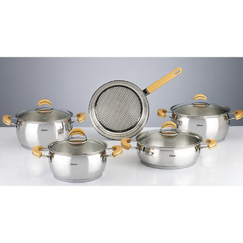 Hisr Monaco 9 Piece Stainless Steel Cookware Set Color: Gold
