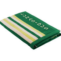 Lunasidus Luxury Stripe Beach Towel Color: Green - Lime