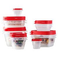 Wayfair Basics 24-Piece Plastic Food Storage Container Set Color: Red