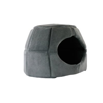 Precioustails 2 in 1 Honeycomb Hut Cuddler Hooded Color: Grey