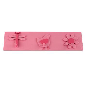 Crown Craft Sadie & Scout - Wall Hooks Decor - Pink