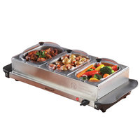 Brentwood Triple Buffet Server with Warming Tray