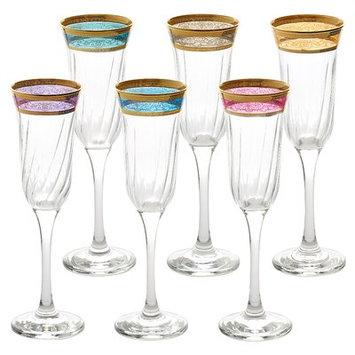 Lorren Home Trends Melania Glass 9 Oz. Champagne Flute