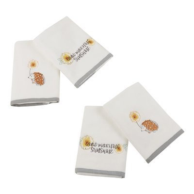 Latitude Run Sunshinin' Day Hand 4 Piece Towel Set