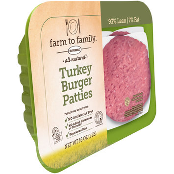 Butterball® Farm to Family™ All Natural Turkey Burger Patties 16 oz. Tray