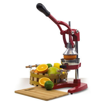 Imperial Home Cast Iron Manual Juicer Color: Red