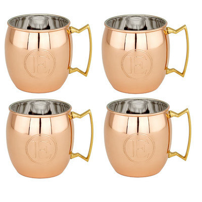 Old Dutch Copper Monogrammed 16 oz. Moscow Mule Mug Letter: E
