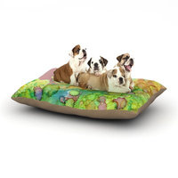 East Urban Home Rosie Brown 'Sea Life III' Dog Pillow with Fleece Cozy Top Size: Small (40