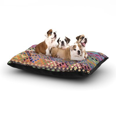East Urban Home Nika Martinez 'Tribal Native' Dog Pillow with Fleece Cozy Top Color: Red, Size: Large (50