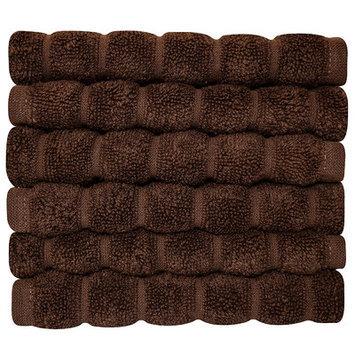Makroteks Textile L.l.c. Brampton Wash Cloth Color: Chocolate